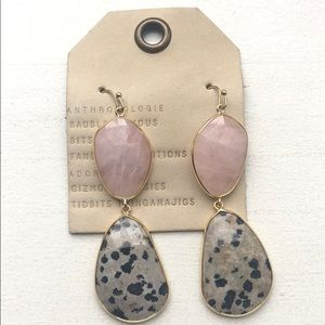 Anthropologie Stone Drop Earrings